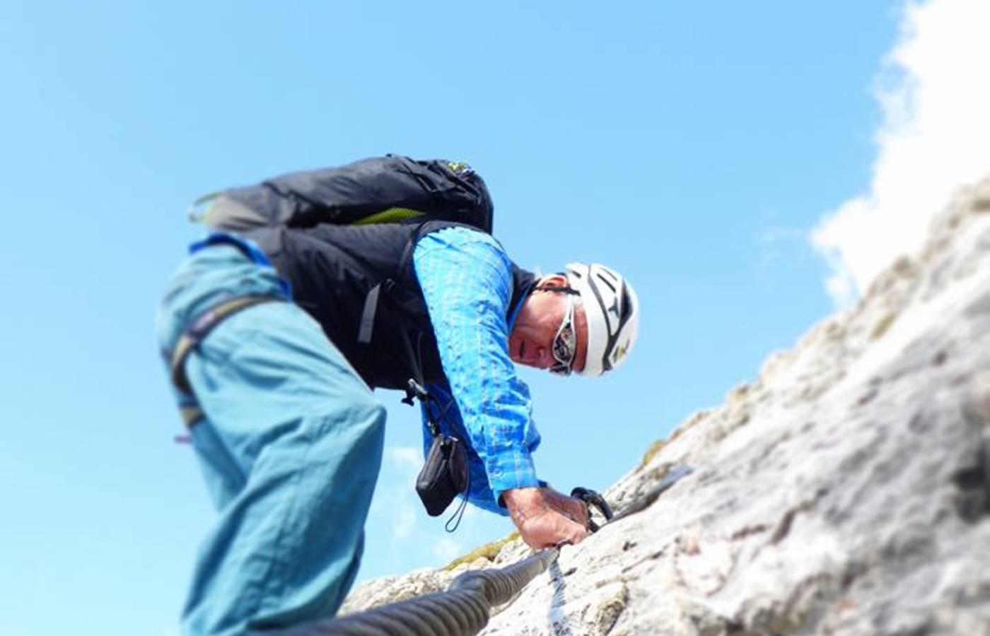 Maximilian Klettersteig : Maximilian klettersteig mit bergführer